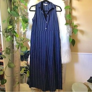 NWOT Sz S Blue White jumpsuit
